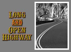 Title page for Paul's song 'Long and Open Highway'