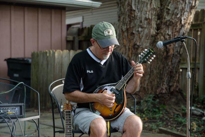 Geoff Walker performing at Dayton Porchfest, 2021