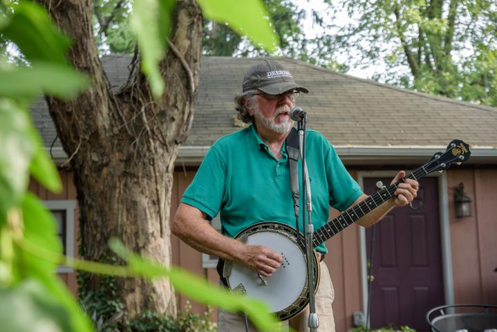 Paul Race performing at Dayton Porchfest, 2021